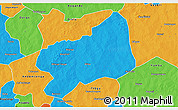 Political 3D Map of Bilanga