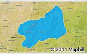 Political 3D Map of Bilanga, satellite outside