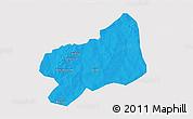 Political 3D Map of Bilanga, single color outside