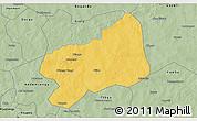 Savanna Style 3D Map of Bilanga