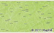 Physical 3D Map of Bogande