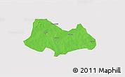 Political 3D Map of Bogande, cropped outside