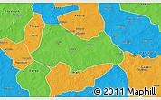 Political 3D Map of Bogande
