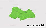 Political 3D Map of Bogande, single color outside