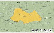 Savanna Style 3D Map of Bogande