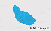 Political 3D Map of Liptougou, cropped outside