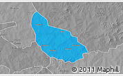 Political 3D Map of Liptougou, desaturated