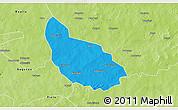Political 3D Map of Liptougou, physical outside