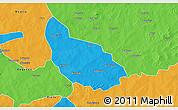 Political 3D Map of Liptougou