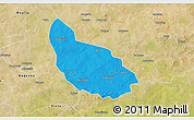 Political 3D Map of Liptougou, satellite outside