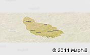 Satellite Panoramic Map of Liptougou, lighten