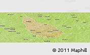 Satellite Panoramic Map of Liptougou, physical outside