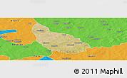 Satellite Panoramic Map of Liptougou, political outside