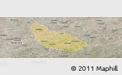 Satellite Panoramic Map of Liptougou, semi-desaturated