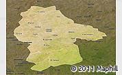 Satellite Panoramic Map of Gnagna, darken