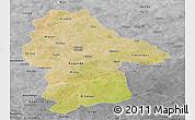 Satellite Panoramic Map of Gnagna, desaturated