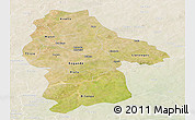 Satellite Panoramic Map of Gnagna, lighten