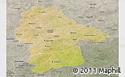 Satellite Panoramic Map of Gnagna, semi-desaturated