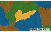 Political 3D Map of Piela, darken