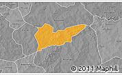 Political 3D Map of Piela, desaturated