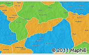 Political 3D Map of Piela