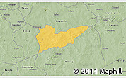 Savanna Style 3D Map of Piela