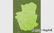 Physical 3D Map of Gourma, darken