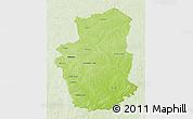 Physical 3D Map of Gourma, lighten