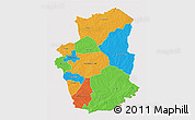 Political 3D Map of Gourma, cropped outside