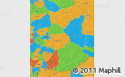 Political 3D Map of Gourma