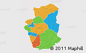 Political 3D Map of Gourma, single color outside