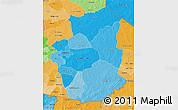 Political Shades 3D Map of Gourma