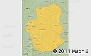 Savanna Style 3D Map of Gourma