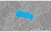 Political 3D Map of Comin-Yanga, desaturated