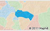 Political 3D Map of Comin-Yanga, lighten