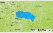 Political 3D Map of Comin-Yanga, physical outside
