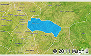 Political 3D Map of Comin-Yanga, satellite outside