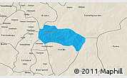 Political 3D Map of Comin-Yanga, shaded relief outside