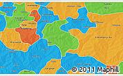 Political 3D Map of Diabo