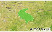 Political 3D Map of Diabo, satellite outside