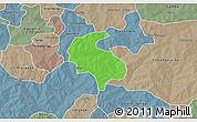 Political 3D Map of Diabo, semi-desaturated