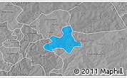 Political 3D Map of Diapangou, desaturated