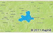 Political 3D Map of Diapangou, physical outside