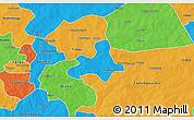 Political 3D Map of Diapangou