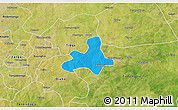 Political 3D Map of Diapangou, satellite outside