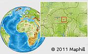 Physical Location Map of Diapangou