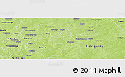 Physical Panoramic Map of Diapangou