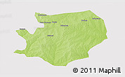 Physical 3D Map of Fada N'gourma, cropped outside