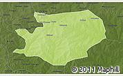 Physical 3D Map of Fada N'gourma, darken