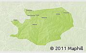 Physical 3D Map of Fada N'gourma, lighten